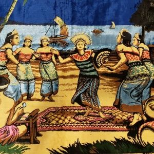 Other - vintage tiki tropical style dancers wall tapestry